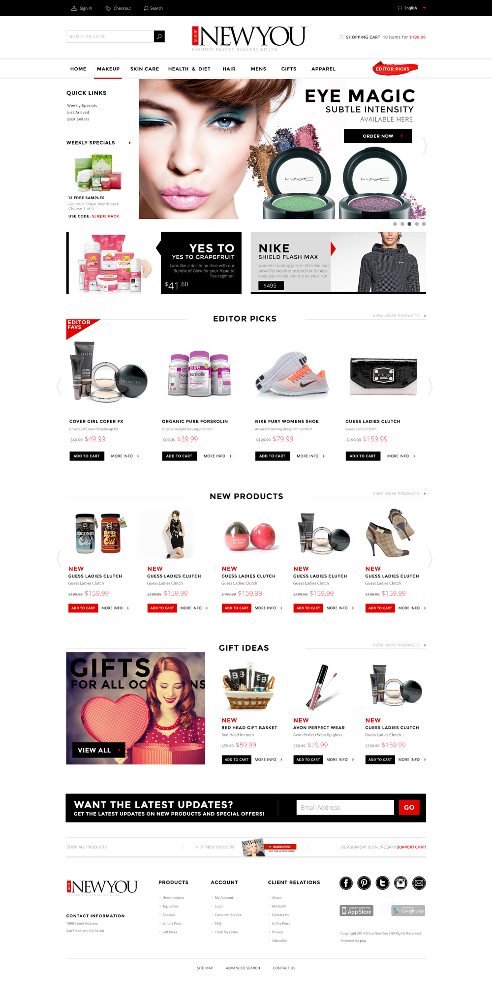Responsive web design big theory creative for Unique online shopping websites